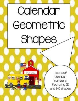 Geometric Calendar Numbers