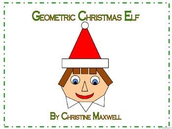Geometric Christmas Elf 2D Shapes