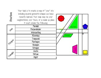 Geometric City Project with Rubric