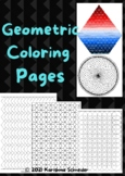 Full Page Geometric Coloring Pages for Adults -  Geometric