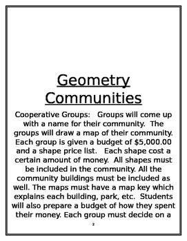 Geometric Community maps (lesson plans)