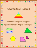 Geometric Concepts Mystery Pictures (with Terms):Distance Learning