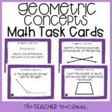 4th Grade Geometric Concepts Task Cards | Geometric Concep