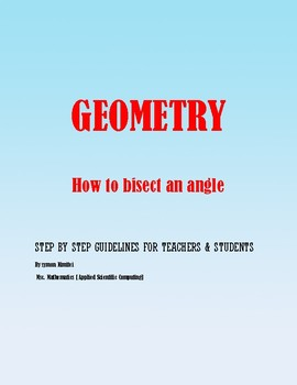 Geometric Construction: How to bisect an angle