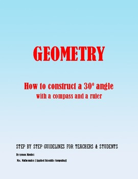Geometric Construction:  How to construct a 30 degree angle