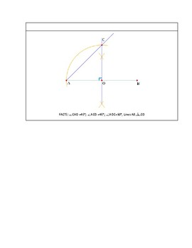 Geometric Construction: How to construct a 45 degree angle