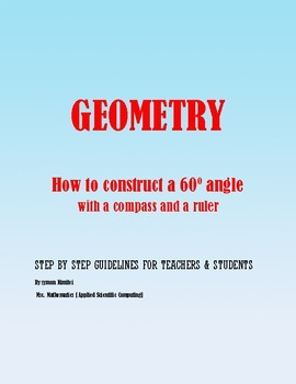 Geometric Construction: How to construct a 60 degree angle