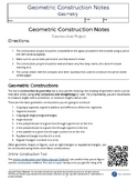 Geometric Construction Notes Project