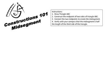 Geometric Constructions- Midsegment