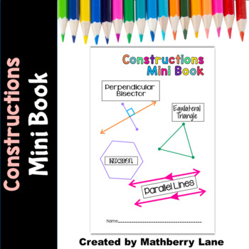 Geometric Constructions Mini Book Assessment or Practice