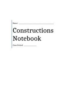 Geometric Constructions Notebook
