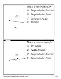 Geometric Constructions (Quiz)
