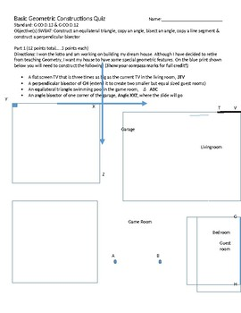 Geometric Constructions Quiz