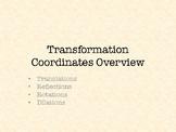 Geometric Coordinate Transformations