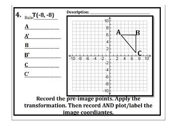 Geometric Coordinate Translations & Reflections