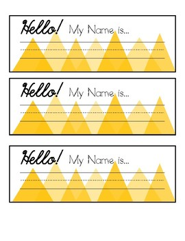 Geometric Desk Name Tags