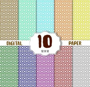 Geometric Digital Paper, digital paper