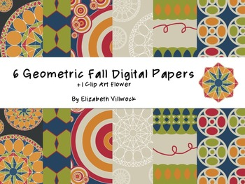 Geometric Fall Digital Papers - Mini Set