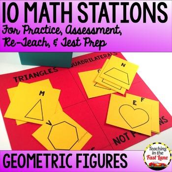Geometric Figures Test Prep Math Stations