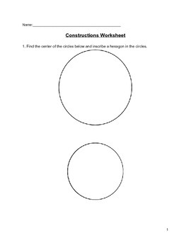 Geometric Figures Constructions Activity