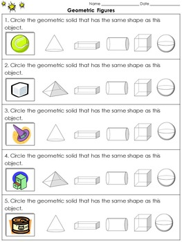 Geometric Figures: Identify Three-Dimensional Figures Prac