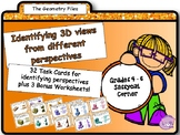 Geometry - Identifying 3D shapes from different perspectives