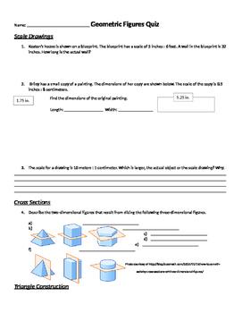 Geometric Figures & Relationships 7th Grade Quiz & Retake