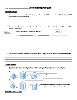 Geometric Figures & Relationships 7th Grade Quiz & Retake