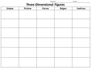 Geometric Figures: Three-Dimensional Figures Study Guide - 3-D Shapes