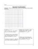 Geometric Figures Transformations Activity