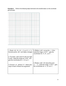 Geometric Figures Transformations Activity