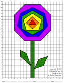 Geometric Flower Mystery Picture & Geometry Lesson