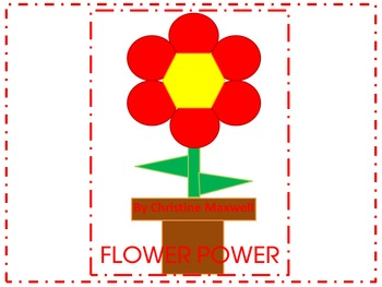 Spring and Summer Geometric Flowers 2D Shapes