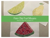Shape Elements of Art Lesson with Geometric Fruit Mosaic Project