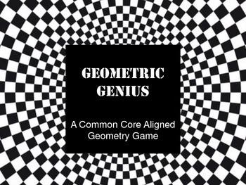 Geometric Genius Board Game -  Common Core Aligned