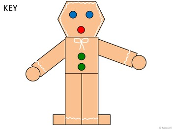 Geometric Gingerbread Man 2D Shapes