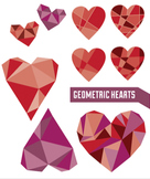 Geometric Hearts Clip Art for Valentine's Day (or any day!)
