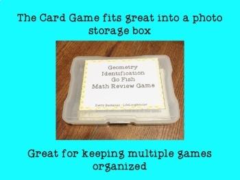 Geometric Identification Go Fish Game TEKS 4.8A