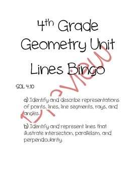 Geometric Lines Bingo