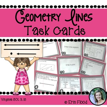 Geometric Lines Task Cards