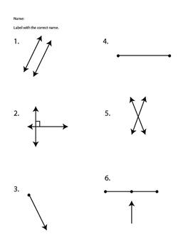 Geometric Lines Worksheet