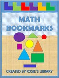 Geometric Math Bookmarks to Color