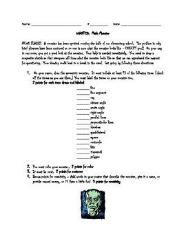 Geometric Math Monster Instructions