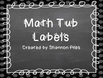 Geometric Math Tub Labels