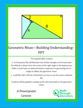 Geometric Mean - Building Understanding - PPT