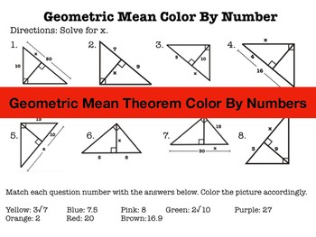 Geometric Mean Color by Numbers