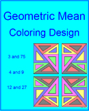 Geometric Mean  - Coloring Activity