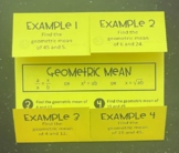 Geometric Mean (Mini Geometry Foldable)