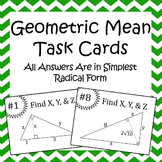 Geometric Mean Task Cards