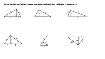 Geometric Mean Theorem Activity